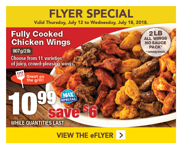 Flyer Special $10.99 Chicken Wings