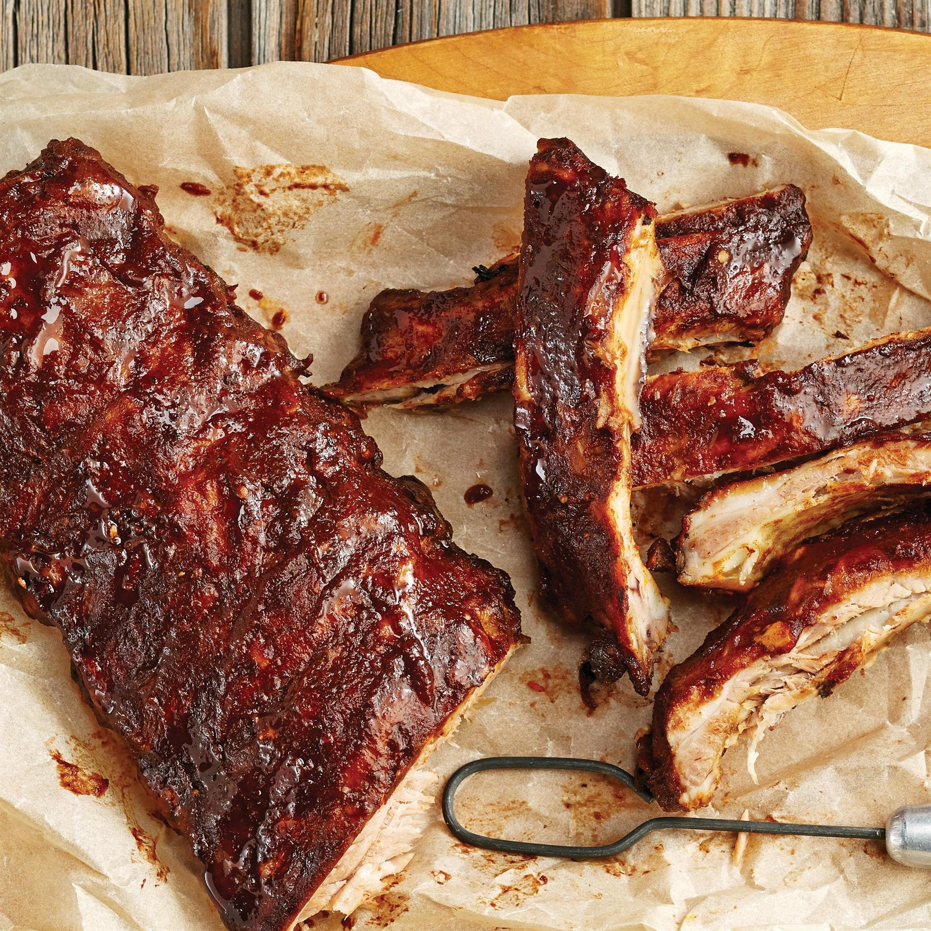 Tangy Barbecue Back Ribs