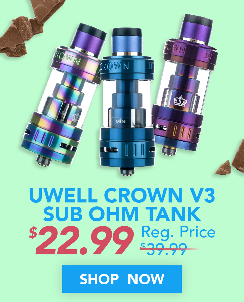 Uwell Crown V3 Sub Ohm Tank $22.99