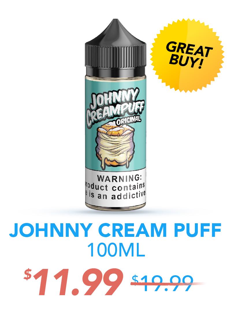 Johnny Cream Puff 100ML, $11.99