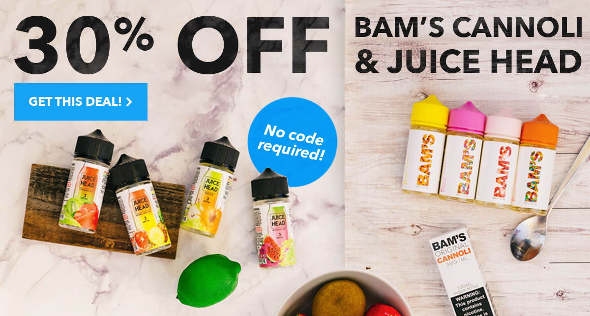 30% off Bam's Cannoli and Juice Head! No code required.