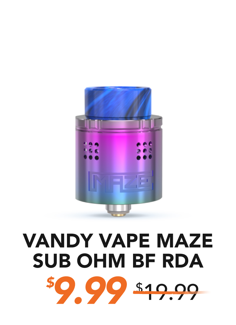 Vandy Vape Maze Sub Ohm BF RDA, $9.99
