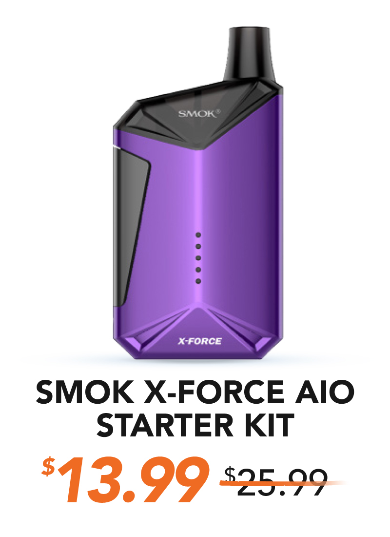Smok X Force Aio Starter Kit, $13.99