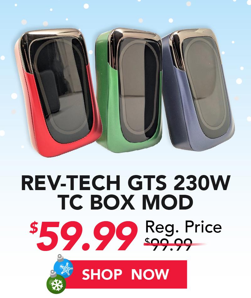 rev tech gts 230w tc box mod $59.99