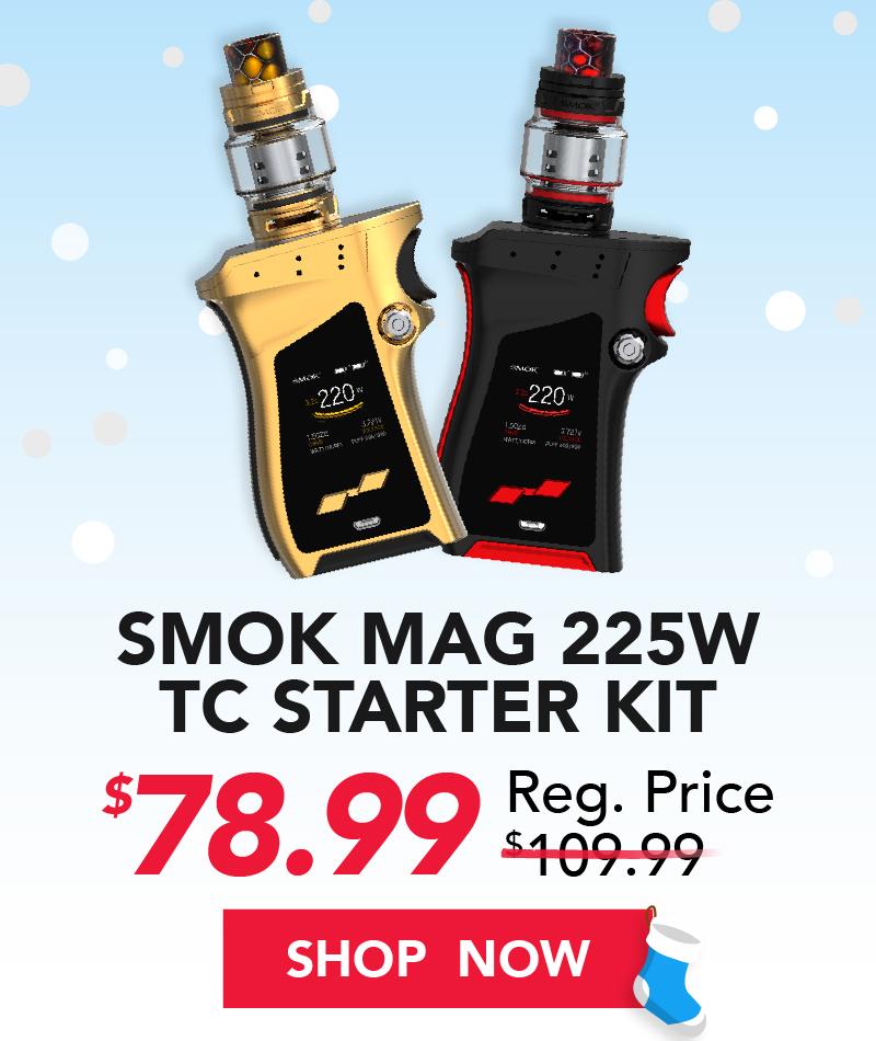 smok mag 225w tc starter kit $78.99