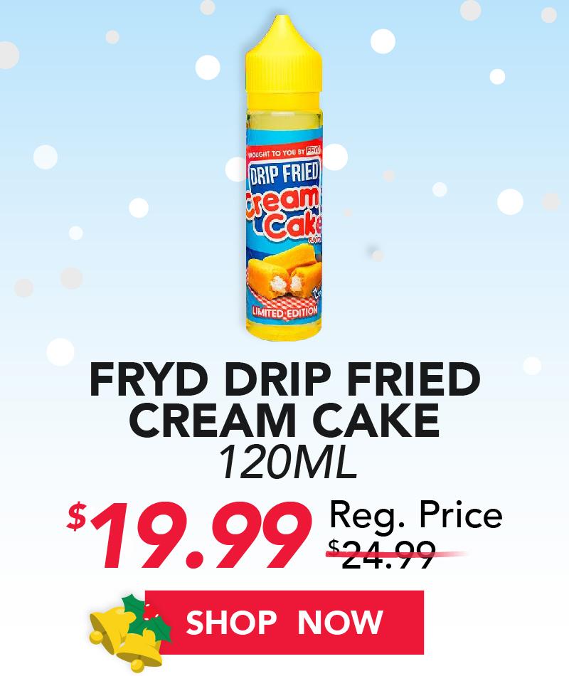 fryd drip fried cream cake 120ml $19.99