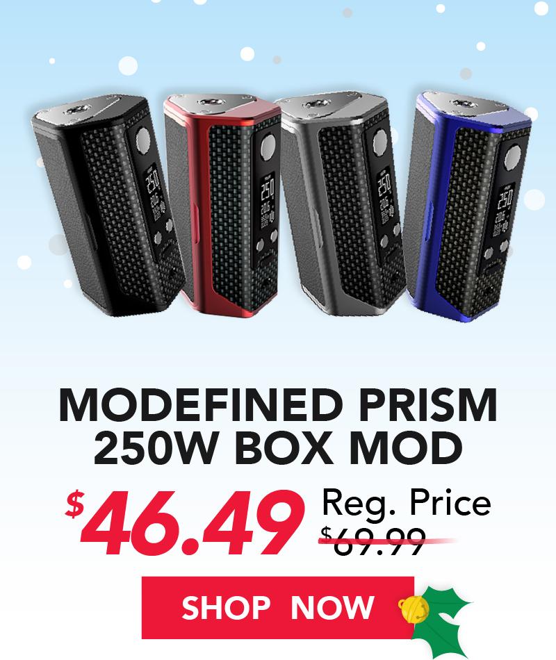 modefined prism 250w box mod $46.49