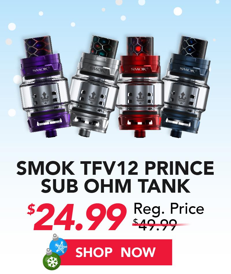 smok tfv12 prince ohm tank $24.99