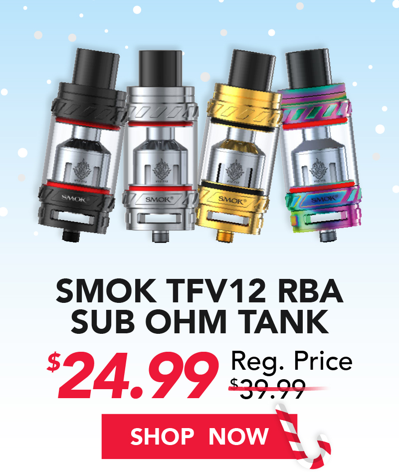 smok tfv12 rba sub ohm tank $24.99