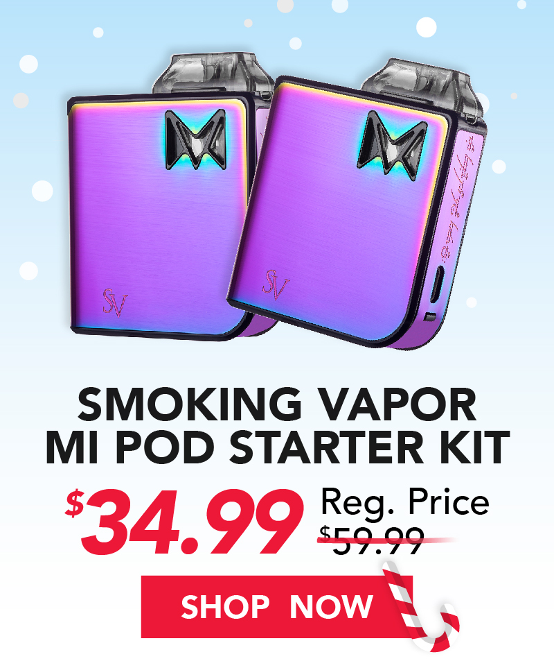 smoking vapor mi pod starter kti $34.99