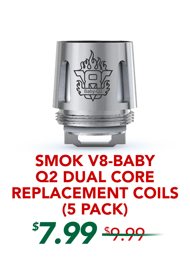 Smok V8-Baby Q2 Dual Core Replacement Coils (5 Pack), $7.99