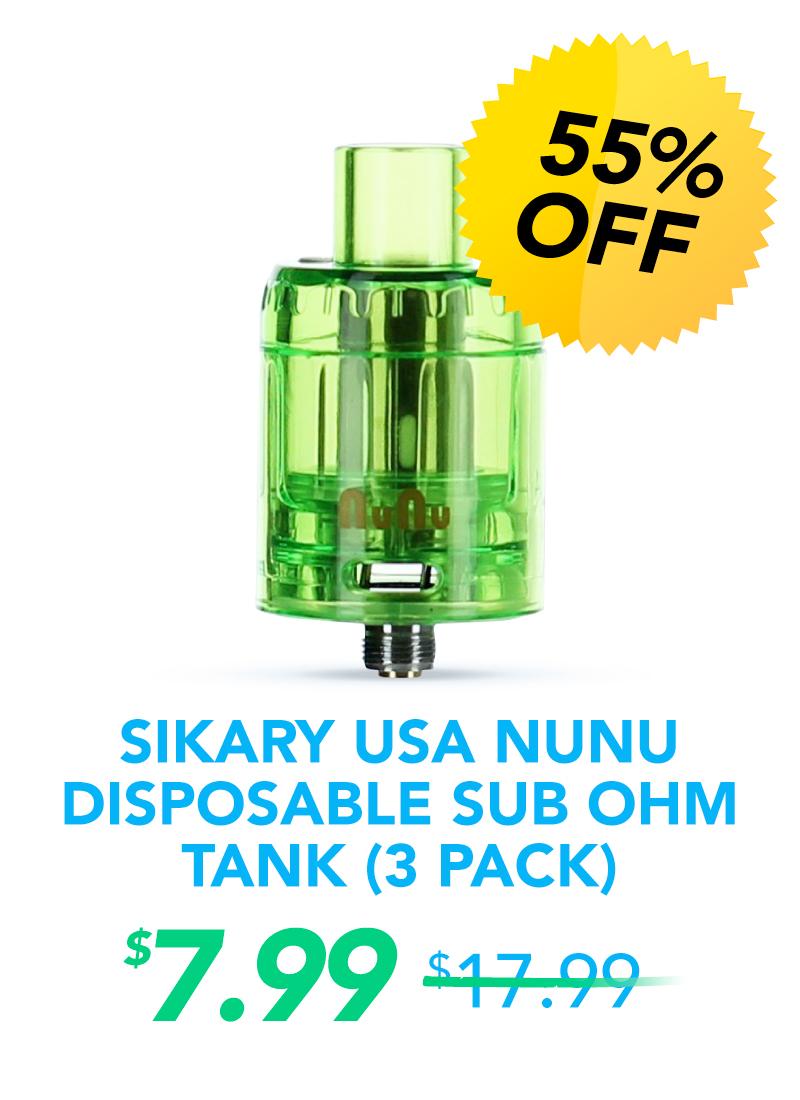 Sikary USA Nunu Disposable Sub Ohm Tank (3 Pack), $7.99