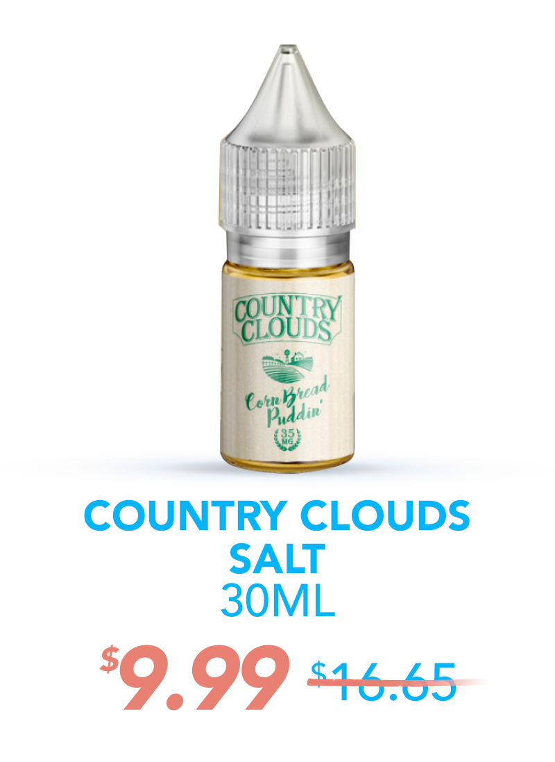 Country Clouds Salt 30ML, $9.99