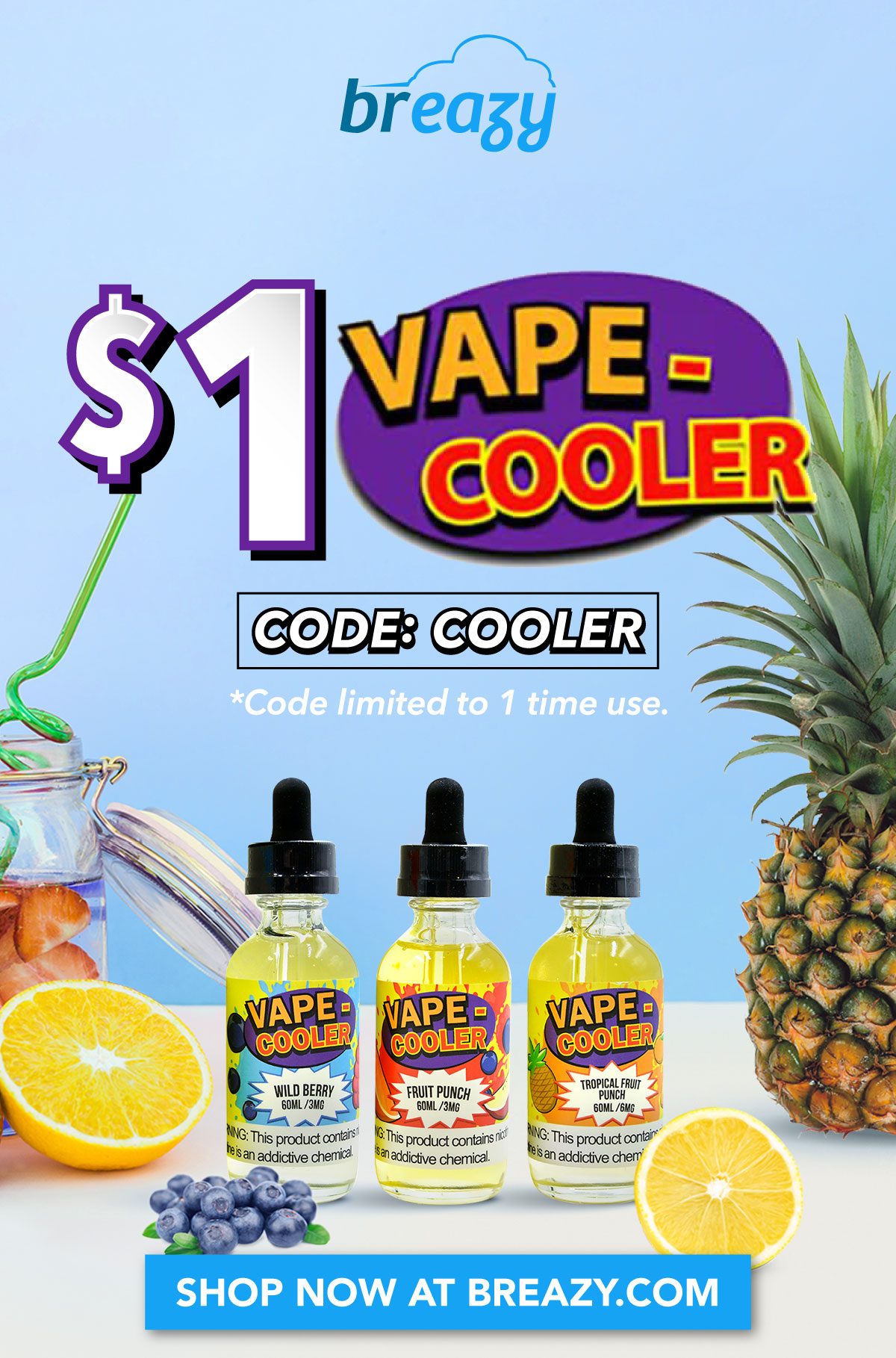 $1 Vape Cooler with code: COOLER