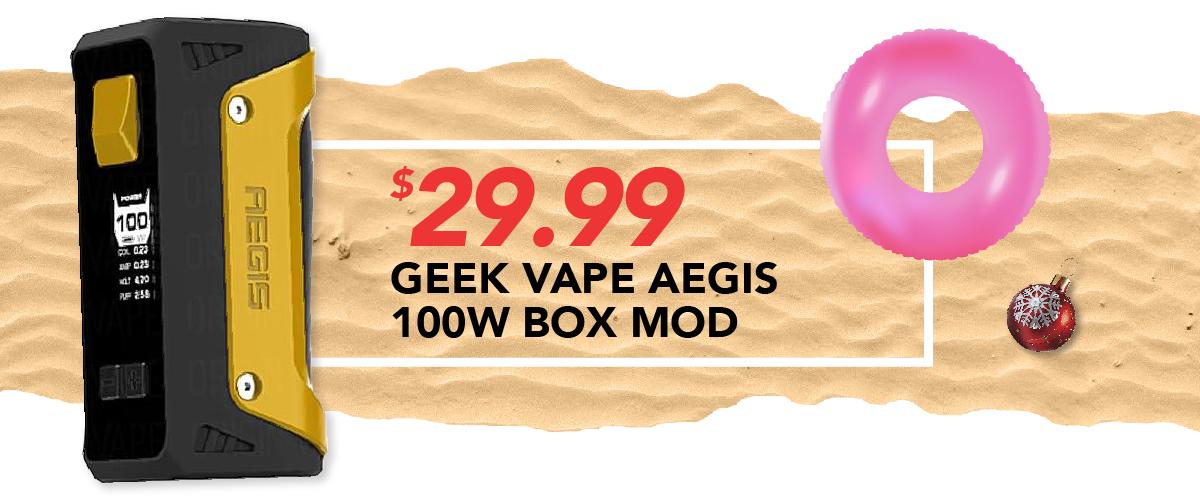 Geek Vape Aegis 100W Box Mod, $29.99