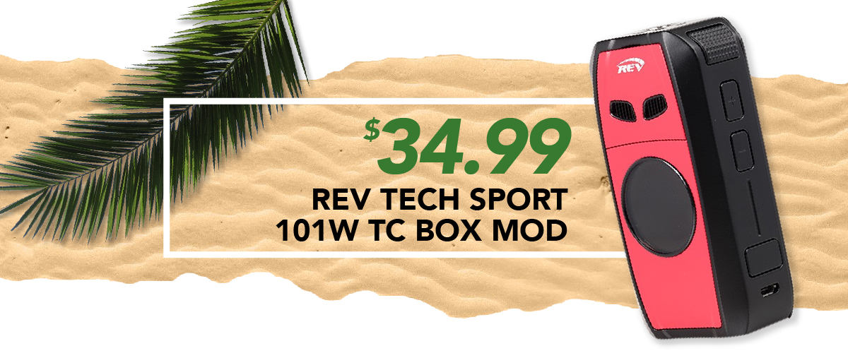 Rev Tech Sport 101W Tc Box Mod, $34.99