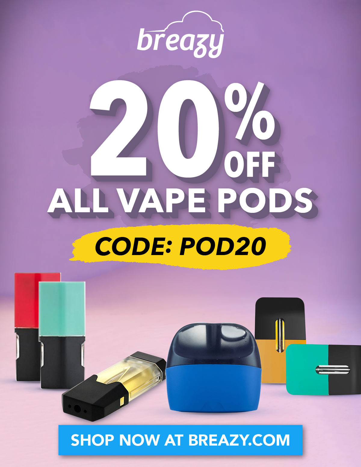 20% Off All Vape Pods with code: POD20