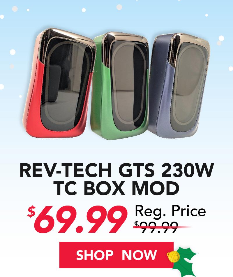 rev-tech gts 230w tc box mod $69.99