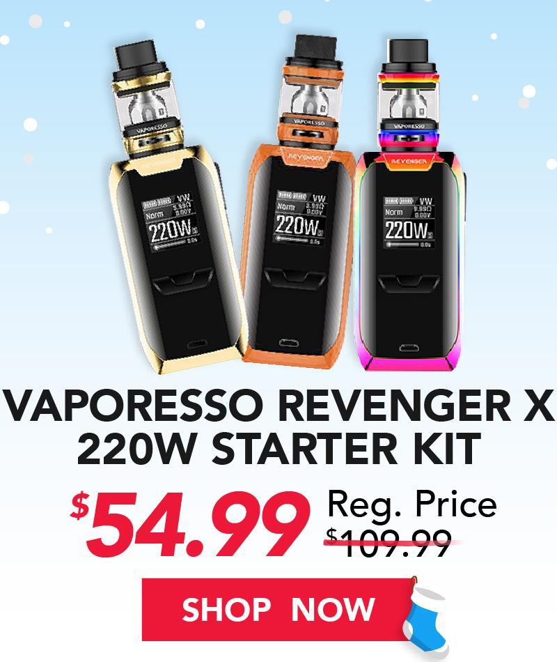 vaporesso revenger x 220w starter kit $49.99